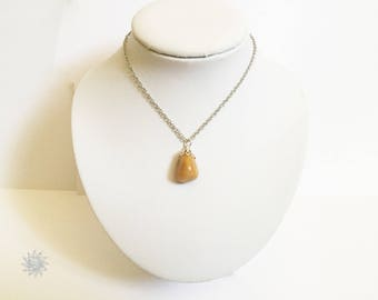 Yellow Jasper necklace and chain