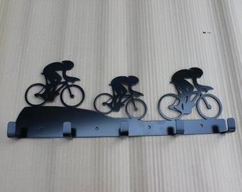 Large Metal Road Racing Bike Cycling  Coat Hooks