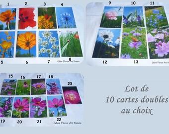 Set of 10 cards double customizable 10x15cm