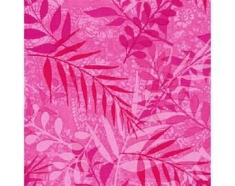 faux patchwork plain pink fabric