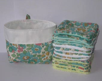 12 wipes for make-up removal liberty betsy green of water lined Green