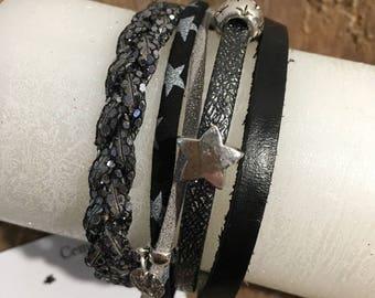 Cuff Bracelet wide 'Silver Star'