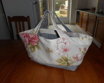 Clothilde resealable floral tapestry tote bag