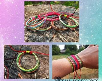 5 Friendship macrame bracelets cords Set