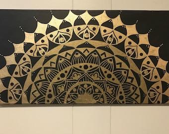 Acrylic mandala painting