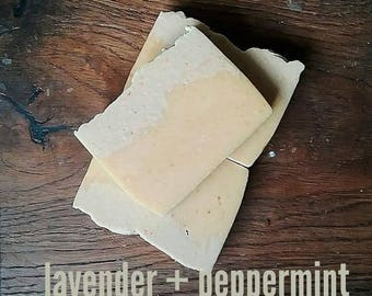 Lavender and Peppermint Goats milk soap