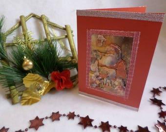 Christmas red Santa Christmas card