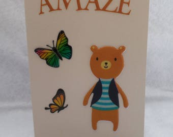 """Card any occasion little bear """"amaze"""""""