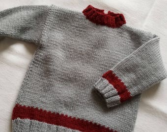 Sweater sport baby wool and acrylic