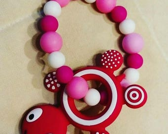 Teething rings silicone and turtle beads