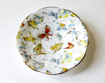 Rosina Butterfly Saucer, Replacement Saucer, Vintage Rosina, Bone China Replacement, Made in England, Rosina China