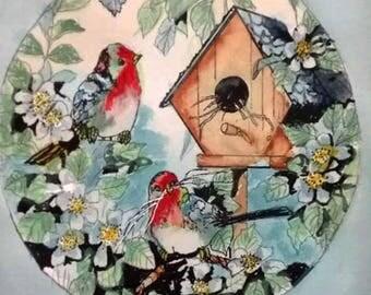 Birdhouse in circle
