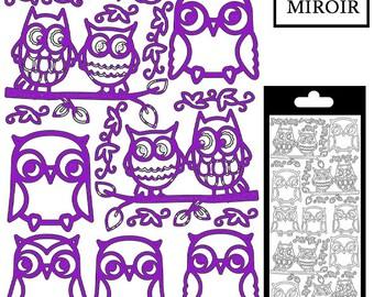OWL stickers - Purple mirror - STI253466H