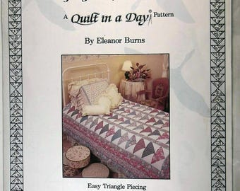 "Quilting Pattern - ""A Quilt in a Day"" by Flying Geese Quilt"