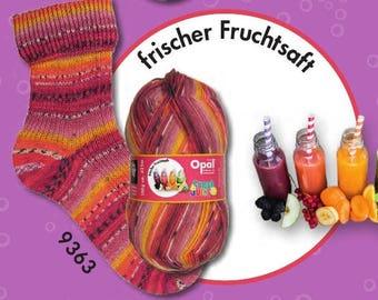 "Opal sock yarn ""fresh & juicy"" F 9363 (fresh fruit juice), 4 threads"