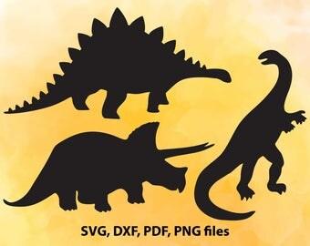 Dinosaur SVG Bundle, Dino svg, T Rex SVG, Dinosaur clipart, svg files for silhouette, cricut download, trex svg files, dxf, png, cut files