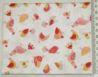 "Makower ""Jungle"" 06 - birds fabric"