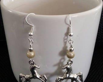 """Earrings """"Horse"""" by 5cm"""