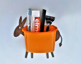 Funny Organizer on the wall - donkey with luggage - Wall Decal