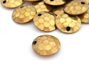 1 busy bead gold plated antique bronze metal 20mm faceted