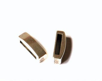Passing - parallel - Metal Zamak - 13.5 mm flat leather - silver - PPMCP1315AG485