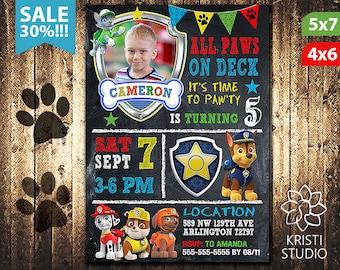 Paw Patrol Invitation Boy - Paw Patrol Invitation - Paw Patrol Boy Birthday - Paw Patrol Birthday Invitation - Paw Patrol Boy Party