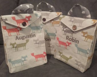 Bag snack customizable foxes