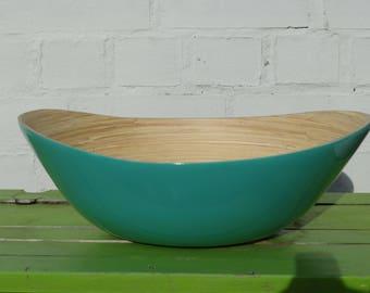 Bamboo boat bowl