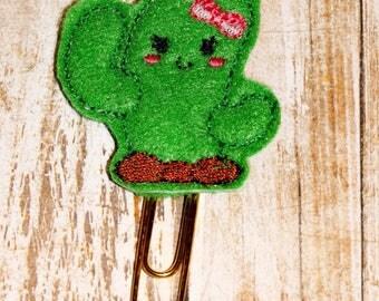 Cute Cactus Planner Clip