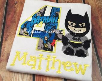 Batman Inspired Birthday Shirt