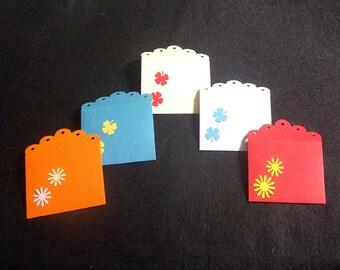 Set of 8 mini envelopes-multicolored