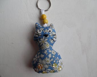 entire fabric cat key ring