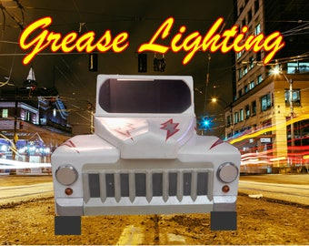 Grease movie. pink ladies. grease car. stage. theatre props. Grease.