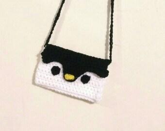 Crochet Cute Penguin Purse/Shoulder Bag Amigurumi for Girls Toddlers