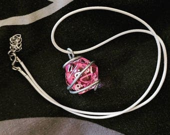 D20 Wire-Wrapped Necklace