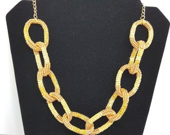 "Necklace ""Golden chains"""