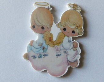 5 figurines Angel, flat, baptism or communion or Christmas to customize your bags or gifts