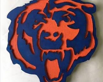 Custom Made Bears or bulls plaque