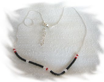 serpentine chain seed beads necklace