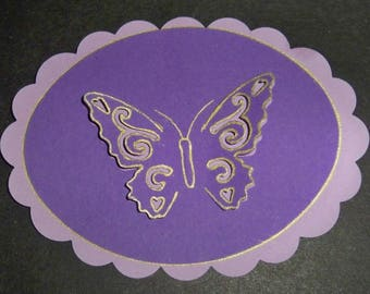 SCRAPBOOKING tag Butterfly 3d color choices