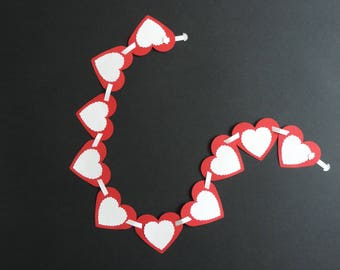 Large Garland heart colors customizable