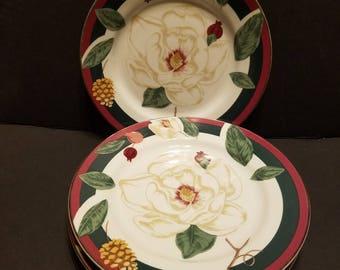 Tienshan Magnolia 8 Inch Plates, Set Of 4