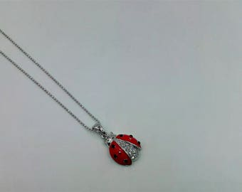 Lady Bug Necklace - Red