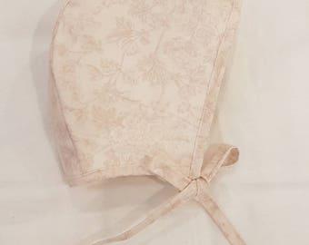 Rose Vintage Bonnet / Baby / Toddler / Floral Vintage  / Baby Hat / Toddler Hat