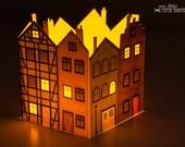 Adventskalender »Häuserblock«; transluzent