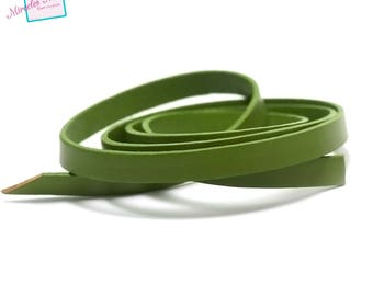 genuine 10 mm olive green leather cord 1 m