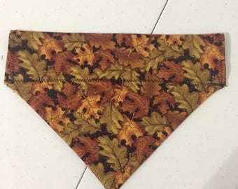 Sparkly Fall Leaves Bandana