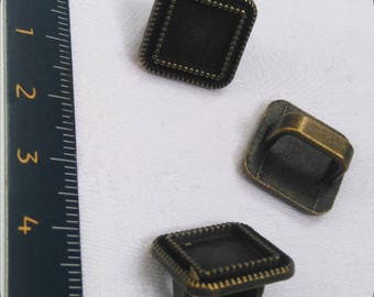 16 mm bronze bezel with thread color