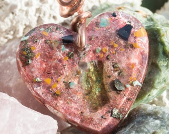 Moldavite & Elite Shungite Crystalline Orgone Pendant Necklace - Reiki Infused Attuned to Solfeggio Frequencies / 528hz -  Artisan Jewelry