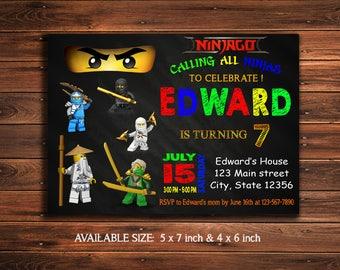 Ninjago Invitation-Ninjago Birthday Invitation-Ninjago Party-Ninjago Invite-Ninjago Party Invitation-Ninjago Printable-Lego Ninjago